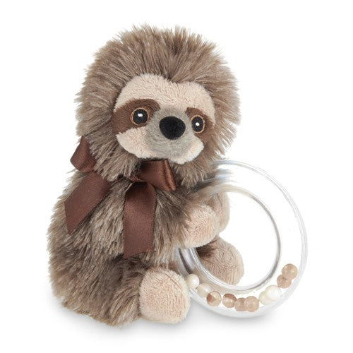 Bearington Lil Speedy baby sloth ring rattle