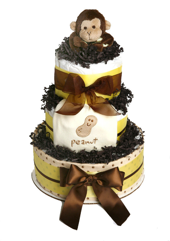 monkey theme diaper cake