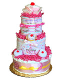 baby girl diaper cake baby shower gift