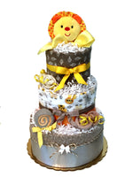 Safari Lion Diaper Cake