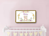 personalized nursery crib wall decor owl theme