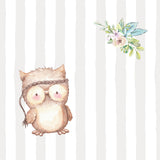 personalized baby gift nursery crib pillow owl theme