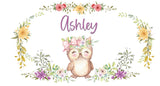 personalized nursery baby crib wall decor owl theme
