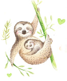 sloth baby theme for baby gift blanket