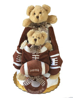 Touch Down Teddy Bear Diaper Cake