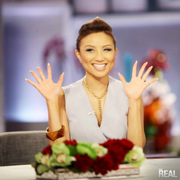 Jeannie Mai The Real wearing Nurazzi Necklaces
