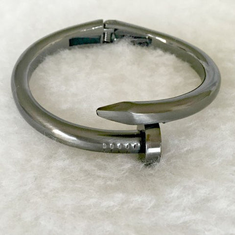 ADRIENNE Bangle - Gunmetal