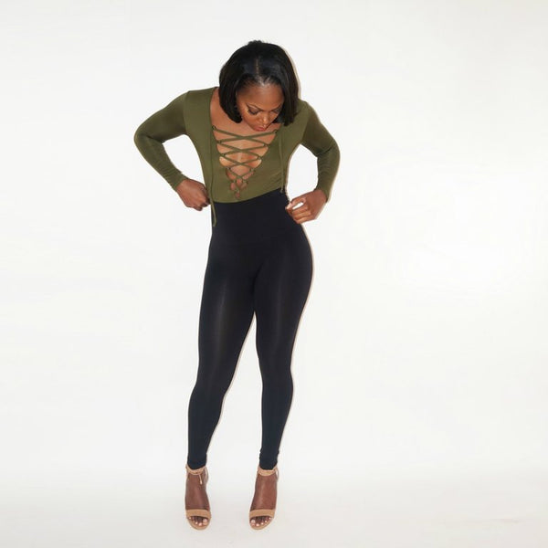 BETHENNY BODYSUIT - OLIVE
