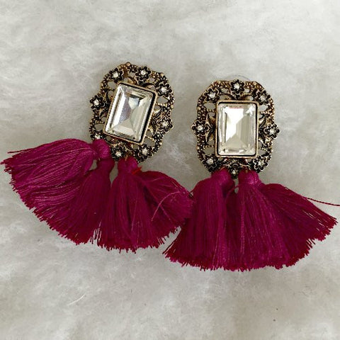 ROSALEE EARRINGS - Berry