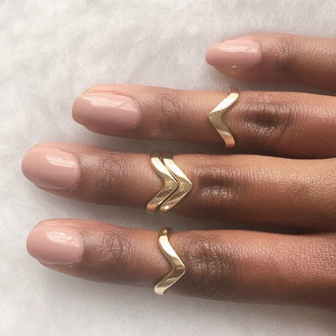 VEE RING DUO - Gold