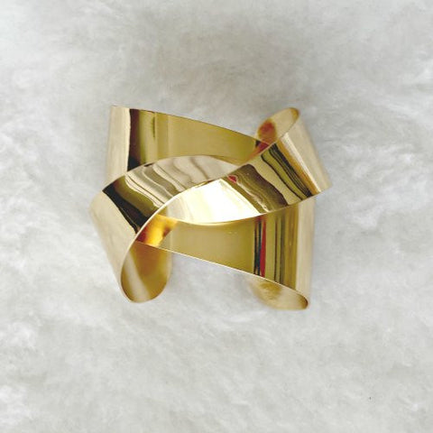 WARPED CUFF - Gold