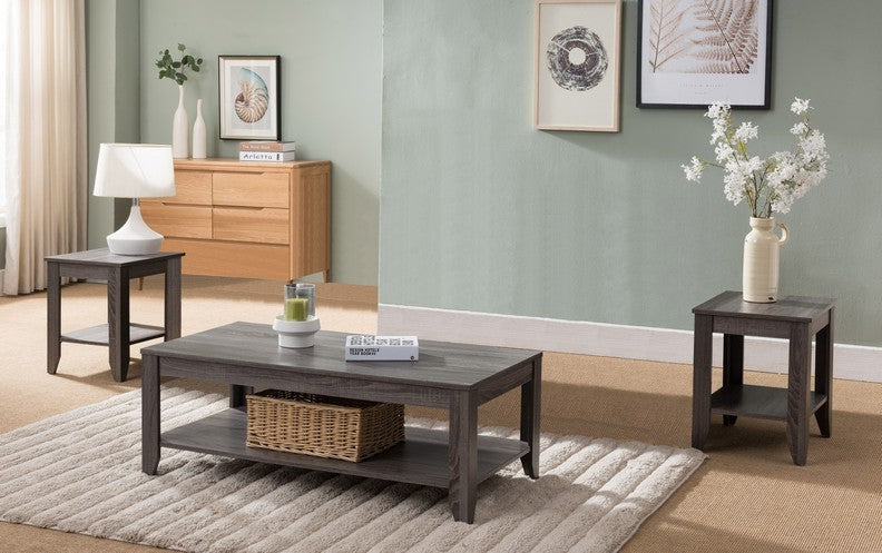 Distressed Gray Coffee Table.Distressed Grey Finish Coffee Table Set