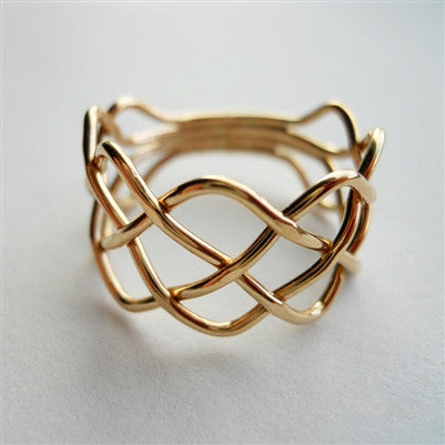 Braid Ring in Gold Filled