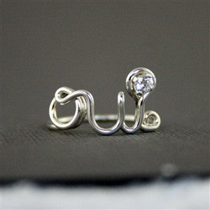 OUI RING WITH SWAROVSKI CRYSTAL in Sterling Silver
