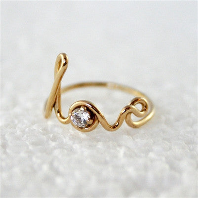 LOVE RING WITH SWAROVSKI CRYSTAL
