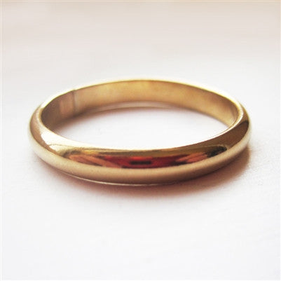 3mm Domed Band in Gold Filled