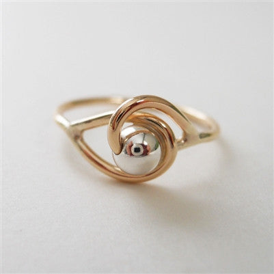 Bead Loop Ring in Gold Filled