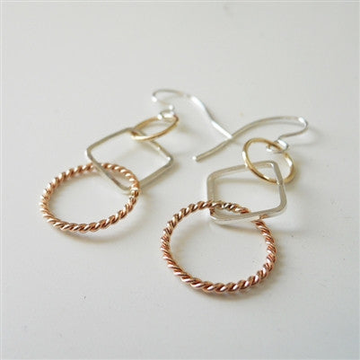 Square Circle Earrings