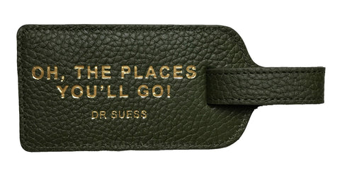 OH THE PLACES YOU'LL GO! DR SEUSS Luggage Tag