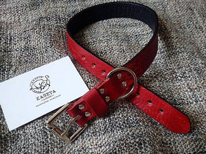 burgundy luxury dog collar - kaseta