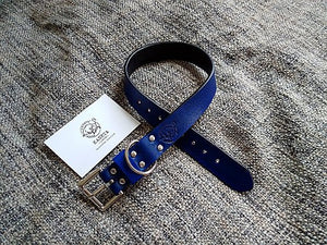 blue luxury dog collar - kaseta
