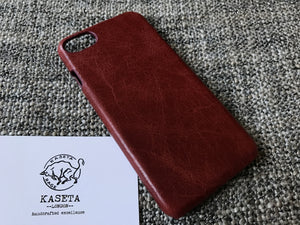 aged stretched leather iPhone 7 case,  Caso de couro do iphone