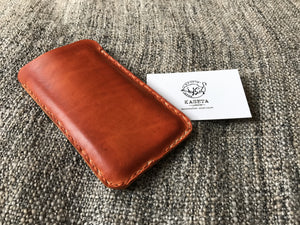 maišelis iPhone 6 7,  kožené iPhone 6 6s 7, Leather sleeve with soft suede inlay