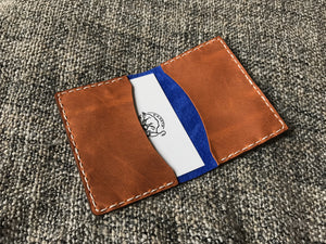 oyster wallet leather