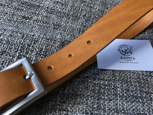 leather tan belt, soft leather belt - kasetaleather