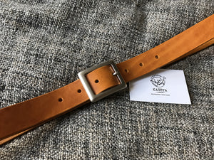 tan leather belt, handmade belt, ladies belt