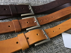 distressed soft leather belts - kaseta