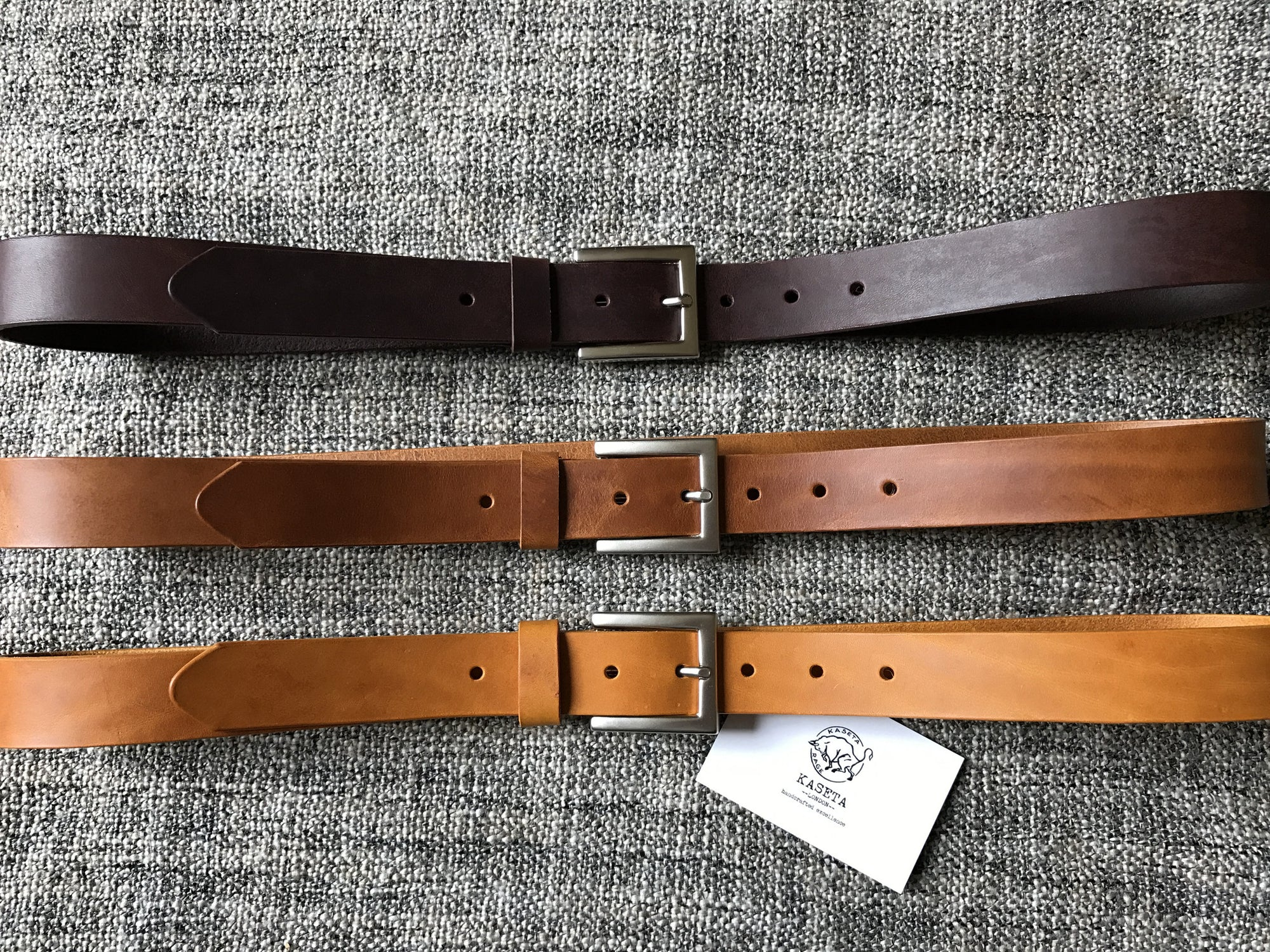 genuine leather belt, unisex belt, rustic belt - KasetaLeather