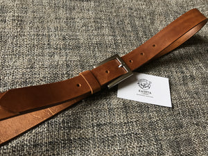 Kožený pásek, brown leather belt