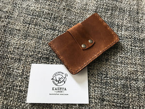 Leather Store, Bank, Business Card Holder 'Brandy' - Kaseta