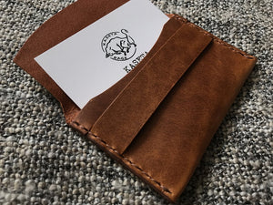 leather card pouch, leather card wallet