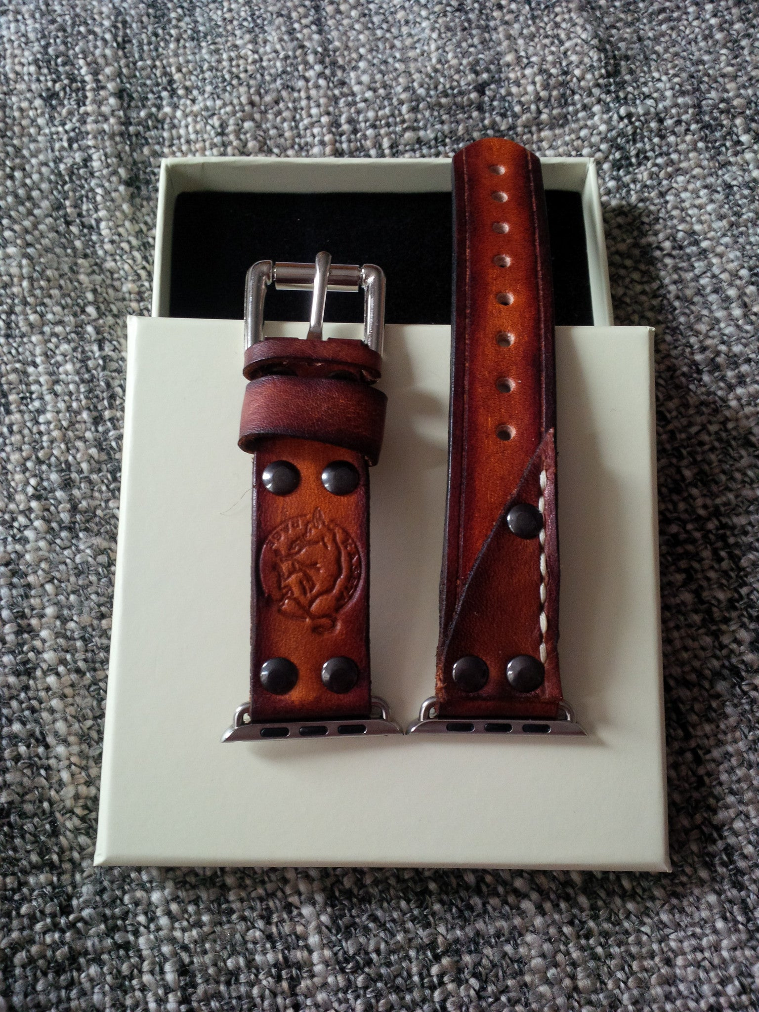 apple watch band aged leather strap 32, 42, 20mm 22mm, watchband, brown watchstrap