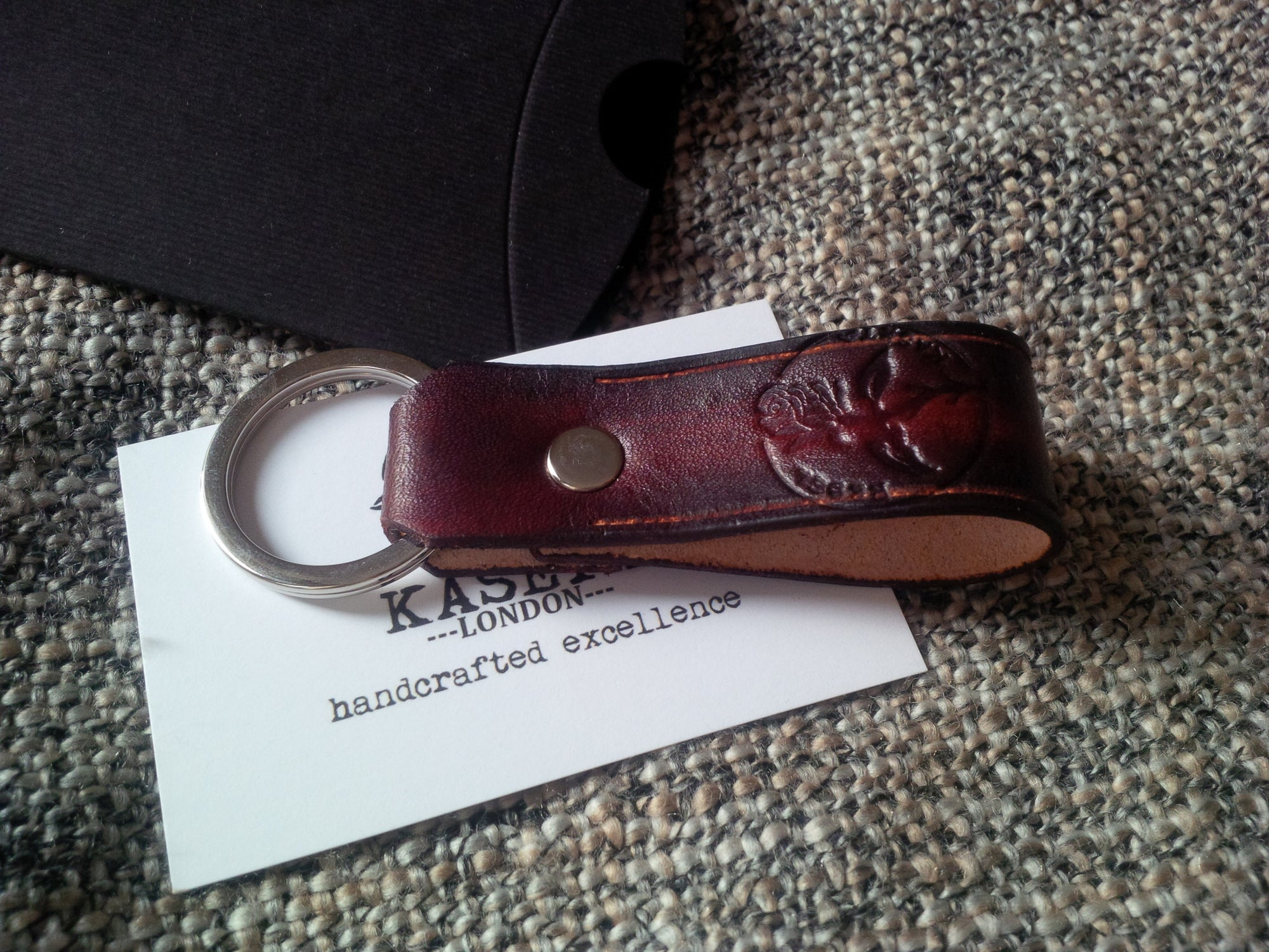 Ladies Leather Key Band 'OlMahogany' - Kaseta