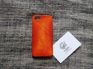 Leather iPhone SE 5s 5 5c case 'OldBritTan' - Kaseta