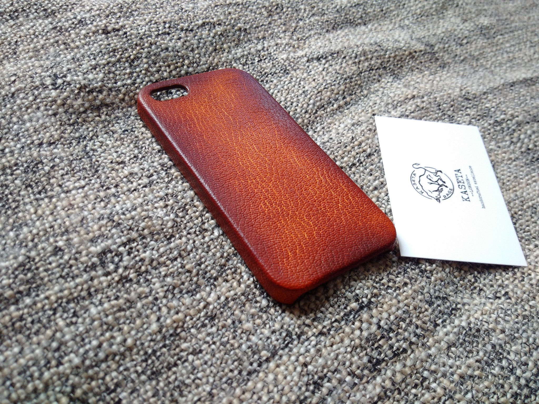 old brown aged leather phone case for iphone