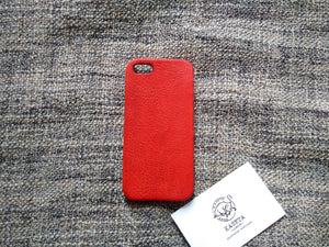 red leather iphone 5s case - kaseta