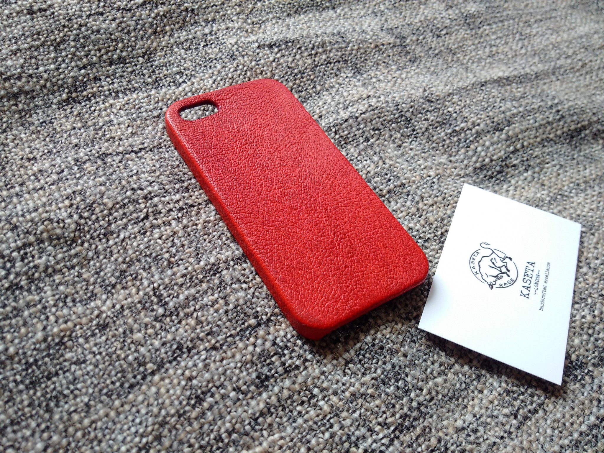 red textured leather iphone SE 5s 5 case