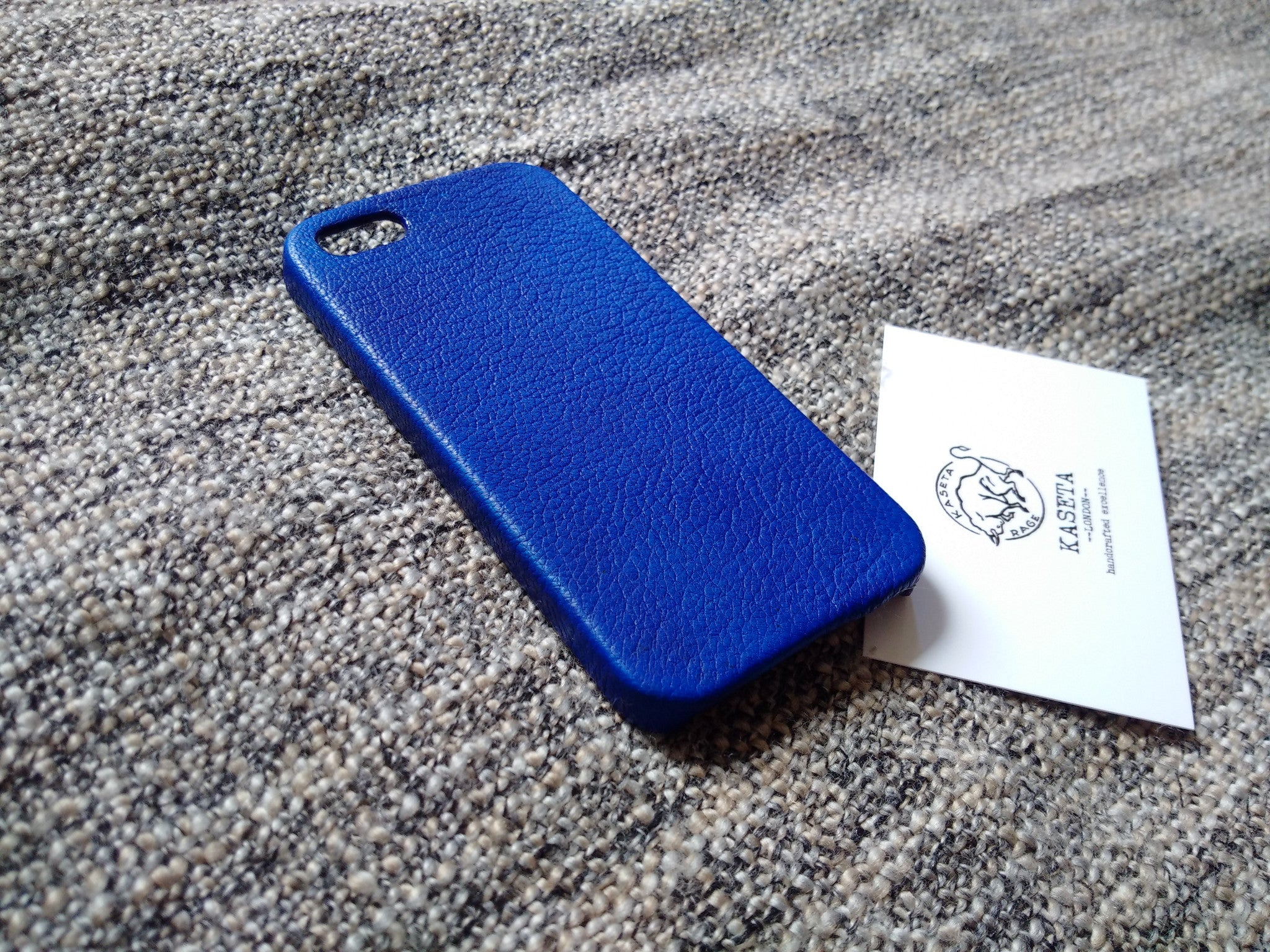 navy blue leather iphone case