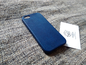 RoyalBlue leather iphone case