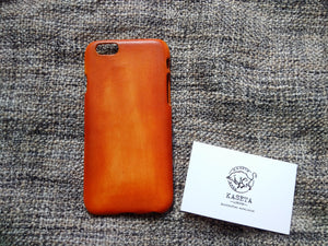 Bull Leather iPhone 8 7 6 & Plus models 'OldBritTan' - Kaseta