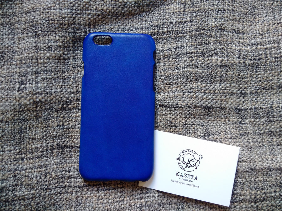 Bull Leather iPhone 8 7 6 & Plus models 'NavyBlue' - Kaseta