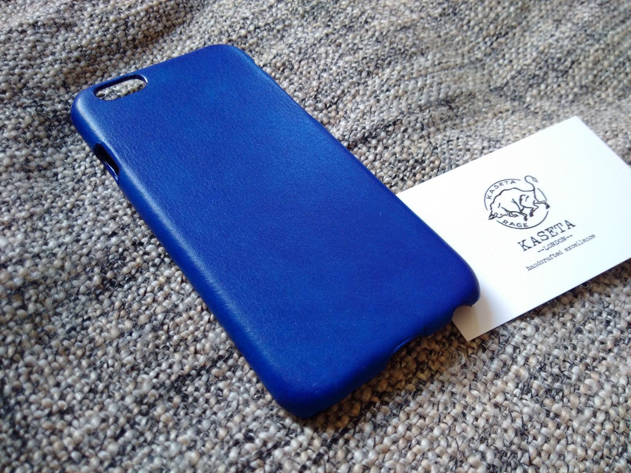 Bull Leather iPhone 8 7 6 & Plus models 'Black' - Kaseta
