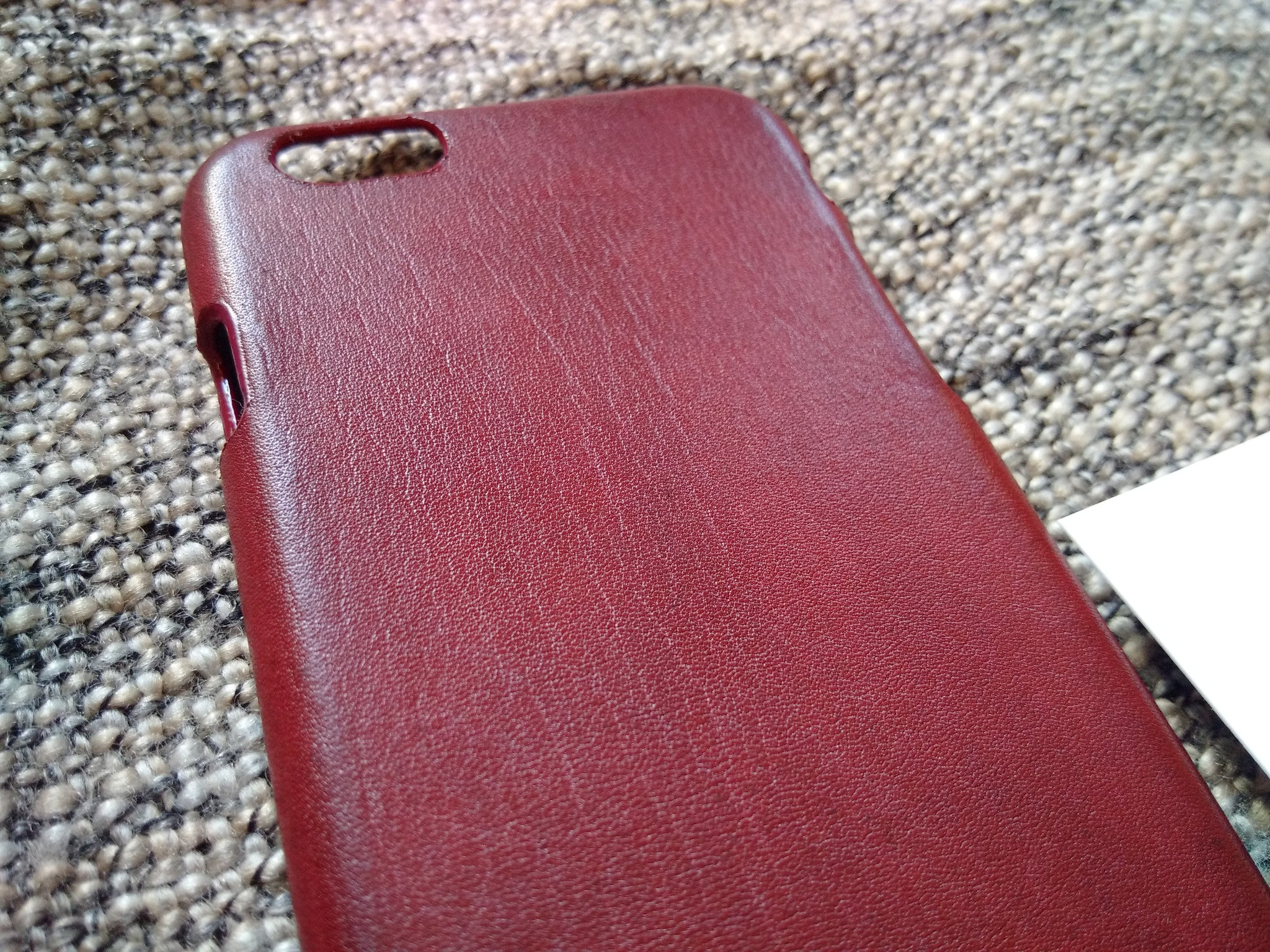 Bull Leather iPhone 8 7 6 & Plus models 'Burgundy' - Kaseta