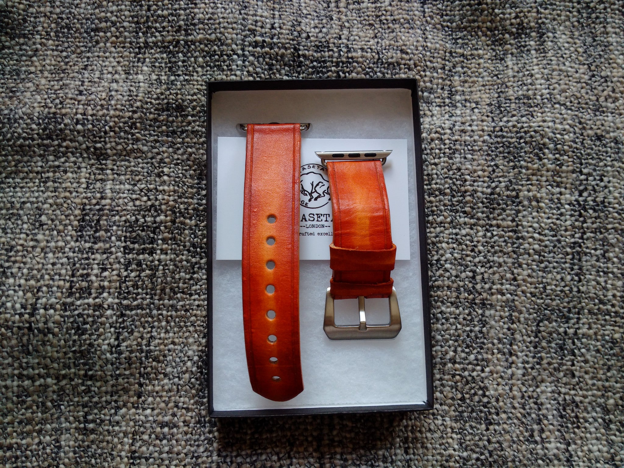 leather watch band for apple watch, aged looking watch strap