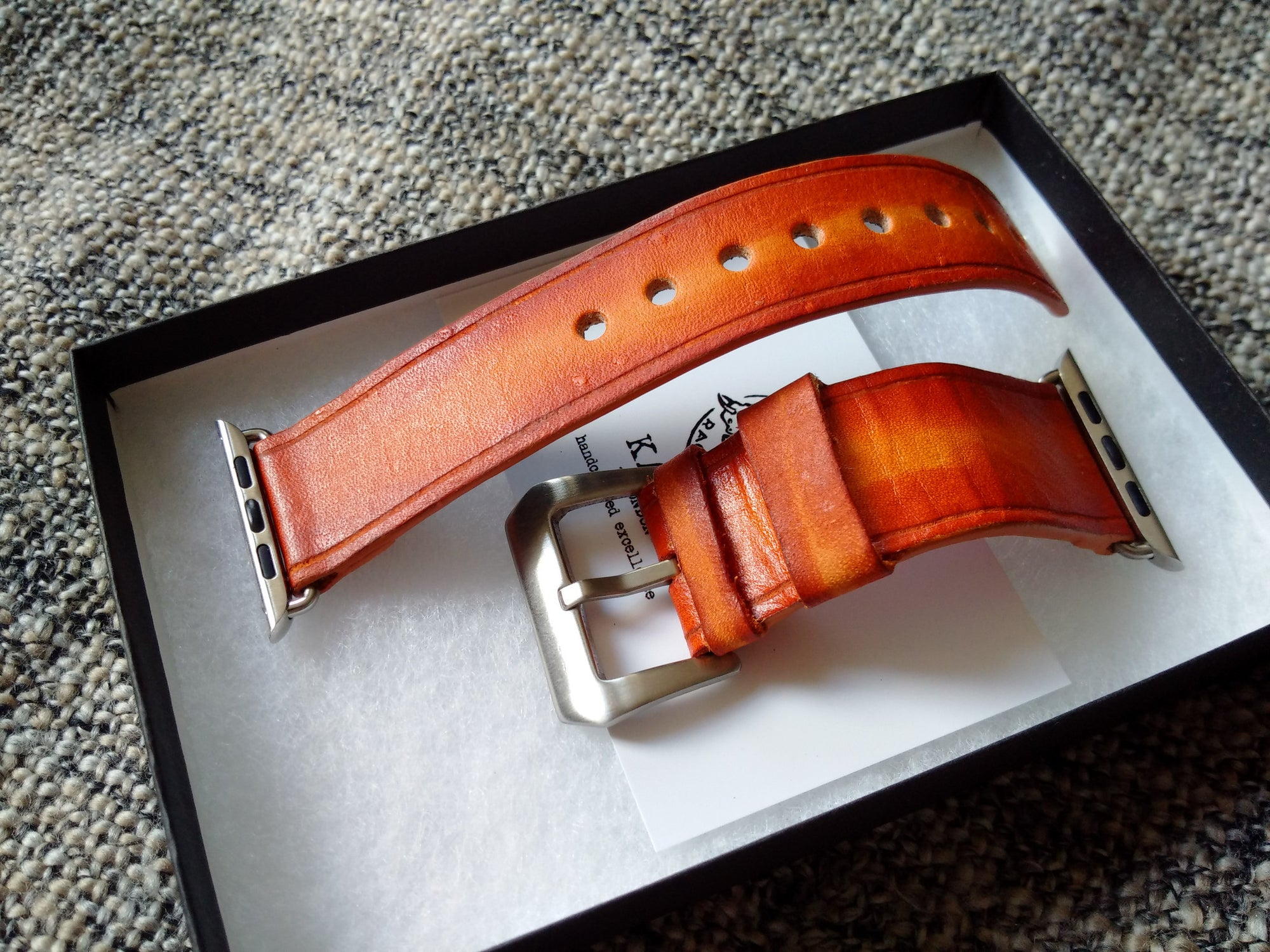 kožené hodinky kapela, leather apple watch band Old BritTan