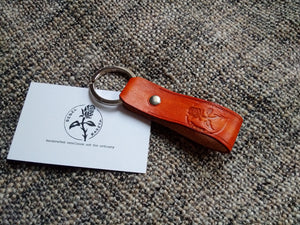Llavero de cuero, leather key band, key ring